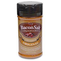 Bacon Salt        * Tastes like bacon!      * Makes other things taste like bacon!      * Vegetarian and Kosher friendly!      * BACON!!