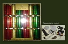 Cym Cards. 6 x 12.5 inch Luxury Christmas Crackers in Tray from Tom Smith Traditional Script €12