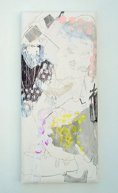 Gozen yojino (2010) Oil on canvas, ink. pigment, charcoal 625x275x45mm   Flickr - Photo Sharing!