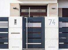 Furtka House Gate Design, Fence Design, Gate Designs Modern, Modern Design, Fence Gate, Fences, Boundary Walls, Sliding Gate, Entrance Gates
