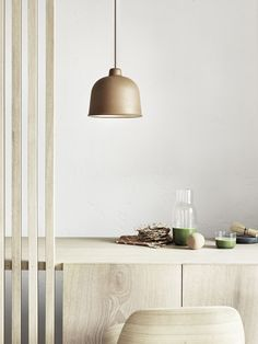 T.D.C   Muuto GRAIN pendant light in 'Nature' designed by Jens Fager