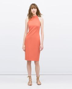 HALTER NECK TUBE DRESS-View all-Dresses-WOMAN | ZARA United States