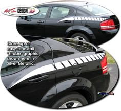 Vehicle specific decal kits for Dodge Avenger that are Precut and ready to install.
