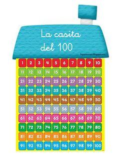 He elaborado este recurso para trabajar la numeración del 1 al 100. Se puede imprimir en formato A5 y poner en las mesas de los alumn@s.   ...