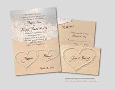 Love this popular beach-themed wedding invitation from http://Invitations4Less.com!