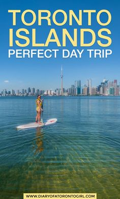 How to spend the perfect day trip exploring the Toronto Islands, including all the best activities to do and things to see during your visit!
