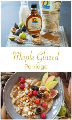 Maple Glazed Quinoa Porridge – Delicious, comforting and healthy! This porridge can be changed up to use whatever fruits or nuts you like, and the maple glaze sauce is amazing! Healthy Recipes, Healthy Cooking, Healthy Snacks, Snack Recipes, Cooking Recipes, Quinoa Porridge, Breakfast Recipes, Breakfast Time, Workout