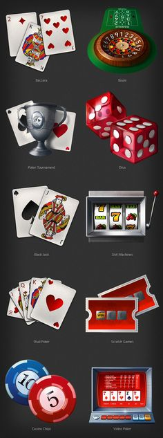 Partouche: extra-large icons on sports and casino by Turbomilk , via Behance