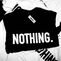 NOTHING Tshirt Black @nothingmcr £15
