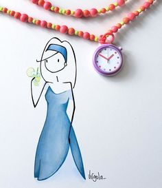Virgola by Virginia Di Giorgio Let's get the party started with POP @Swatch! #POPitUp #virginiasdraws