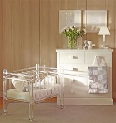 A luscious childhood: stylish baby nurseries start with cribs crafted from LuciteLux®