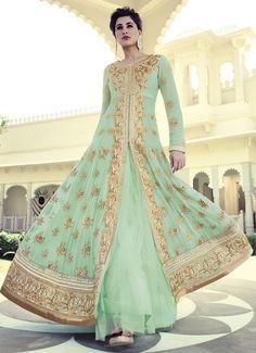 Heavy Mint Green Floor Length Anarkali Suit