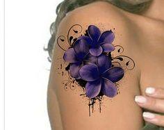 Tijdelijke Tattoo schouder bloem Ultra dunne realistische nep Tattoos