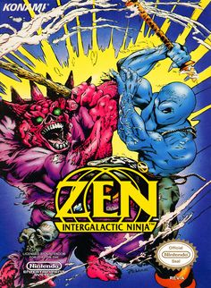 Zen: the Intergalactic Ninja, NES, Konami Video Game Rooms, Video Games Xbox, Video Game Art, Mega Drive 2, The Last Warrior, Pc Engine, Video Game Collection, Nintendo, Old Boxes