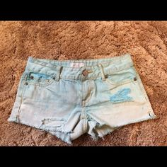 Blue shorts Super cute shorts to wear in the summer but they're too small for me Aeropostale Shorts Jean Shorts