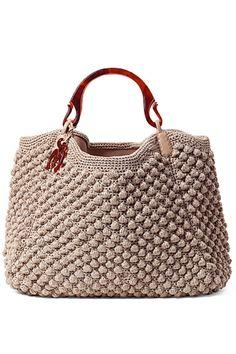 crochelinhasagulhas: crochet bag.