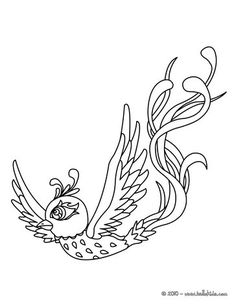 go green and color online this phoenix coloring page nice bird coloring sheet more