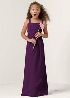 Plum Junior Bridesmaid Dresses