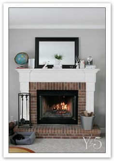 grey brick fireplace - Yahoo! Search Results
