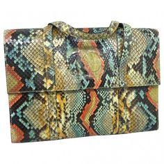 Python handbag CHANEL (48 585 UAH) ❤ liked on Polyvore featuring bags, handbags, chanel purse, python handbags, multi colored purses, colorful handbags and hand bags