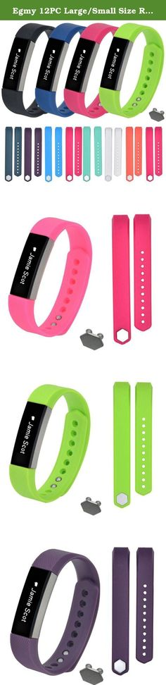 Egmy 12PC Large/Small Size Replacement Wristband Band Strap 1pc Buckle For Fitbit Alta Wristband Bracelet Sturdy Durable (Large male models). Features: 100% Brand new and high quality. Softness is moderate, wear very comfortable Compression molding, sturdy and durable The size can be adjusted according to the circumstance of individual wrist Quantity:12 Material:Silicone Compatible For Fitbit Alta Wristband Small Strap length:160-190mm Large Strap length:170-220mm Color:Army…
