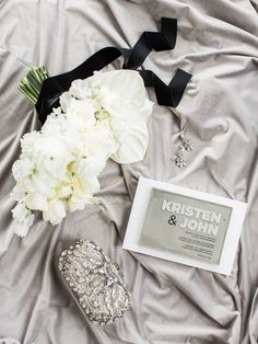 White and Shades of Gray Wedding Decor