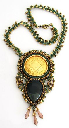 OOAK Sun Pendant Necklace by bead4me on Etsy