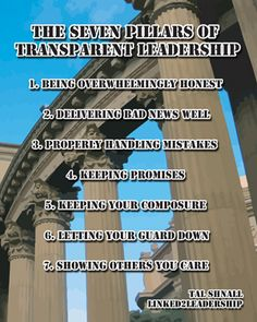 7 Pillars to Transparent Leadership
