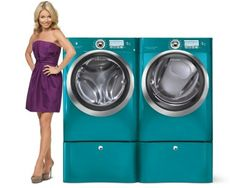 Electrolux Front Load Washer and Dryer. But in a different color. They have so many awesome features.