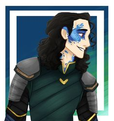 I was gonna give Loki fleek blue highlighter and it turned into half-jotun Loki ^^ I freaking love it
