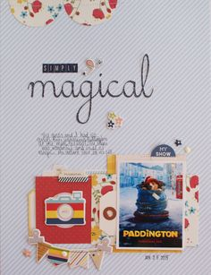 Simply Magical - Scrapbook.com- scrapbook a favorite movie you've seen recently.