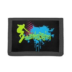 Shop Skateboarding Tri-fold Wallet created by AlexCiopata. School Readiness, Skateboarding, Surfing, Make It Yourself, Wallet, Cards, Design, Decor, Decoration