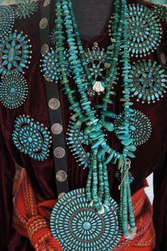 Navajo Pin Collection. My mantra: One can never wear too much turquoise.