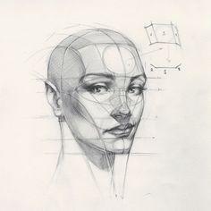 "34.4 mil Me gusta, 153 comentarios - FERHAT EDİZKAN (@edizkan) en Instagram: ""Reilly Head Abstraction method, portrait from imagination #imagination #illustration #drawing…"""