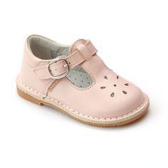LAmour Little Girls Fuchsia Sporty Nubuck Leather Mary Jane Shoes 5-10 Toddler