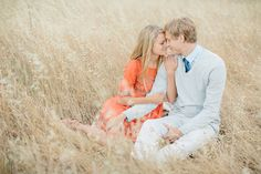 California Countryside Engagement Shoot by Kristen Booth Photography - Bridal Musings Wedding Blog