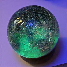 Dichroic Galaxy Multiverse Blacklight Marble. $125.00, via Etsy.