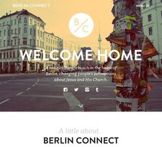 Berlin Connect is a multicultural church in the heart of Berlin, changing people's perceptions about Jesus and His Church. Web Design Examples, Flat Web Design, Web Design Projects, Church Logo, Church Design, Web Design Inspiration, Design Ideas, Love People, Creative Design