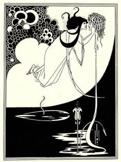Famous Artist Birthdays! Aubrey Beardsley is best known for his ink illustrations that epitomized the Aesthetic movement which also included luminaries such as Oscar Wilde and James McNeill Whistler.   The Climax 1893  20th Century Masterworks available for purchase through Robin Rile Fine Art Contact info@robinrile.com
