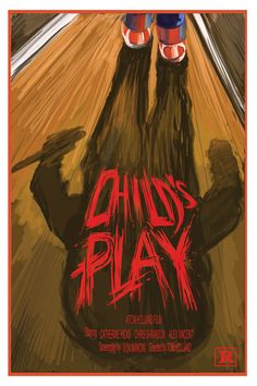 My first attempt at movie poster art. This is for the first Chucky film (LUV me some Chucky!), Tom Holland's Child's Play. I was playing (no pun intended) with hand drawn fronts and brush strokes (all done in Photoshop). I like this as a first attempt. Ready to do mo' and mo' and MO'!