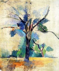This is a painting of a lone tree called Trees by Paul Cezanne. Art Amour, Art Plastique, Landscape Art, Art World, Love Art, Oeuvre D'art, Painting & Drawing, Painting Trees, Amazing Art