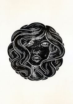 markgoss: Her, Lino Print, Edition of 20 (available here)