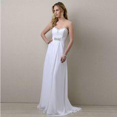Cheap Hot Sale Beaded Beach Wedding Dress 2017 Abito Da Sposa Long Chiffon  Bridal Gown New Arrival Wedding Dresses-in Wedding Dresses from Weddings    Events ... 36c4442891cc