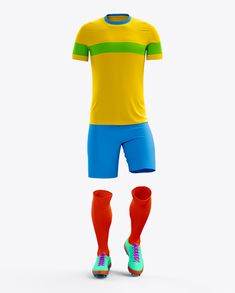 Full Soccer Kit Front View Mockup