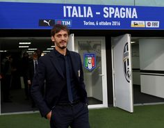 Manolo Gabbiadini of Italy  prior to the press conference at Juventus Stadium on October 5, 2016 in Turin, Italy.