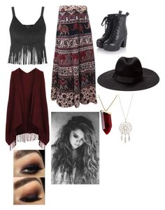 """""""Misty Day (AHS:Coven)"""" by lovely-cambodia ❤ liked on Polyvore featuring Topshop and Kenneth Jay Lane"""