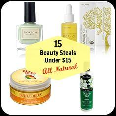 15-beauty-steals-under-15-all-natural #naturalbeautyproductsorganic