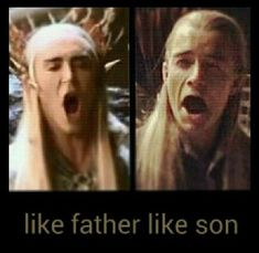 Read Thranduil and Legolas from the story Lord of The Rings Imagines by _Serendipidy_ with 534 reads. Imagine Thranduil and Legolas ha. Thranduil Funny, Legolas And Thranduil, Legolas Funny Faces, Gandalf, J. R. R. Tolkien, O Hobbit, Harry Potter, Orlando Bloom, Middle Earth