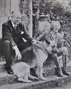 Vita Sackville-West and Harold Nicolson at Sisinghurst.  I enjoy seeing her smile in this picture.