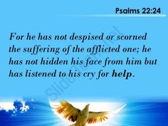 psalms 22 24 but has listened to his cry powerpoint church sermon Slide03http://www.slideteam.net